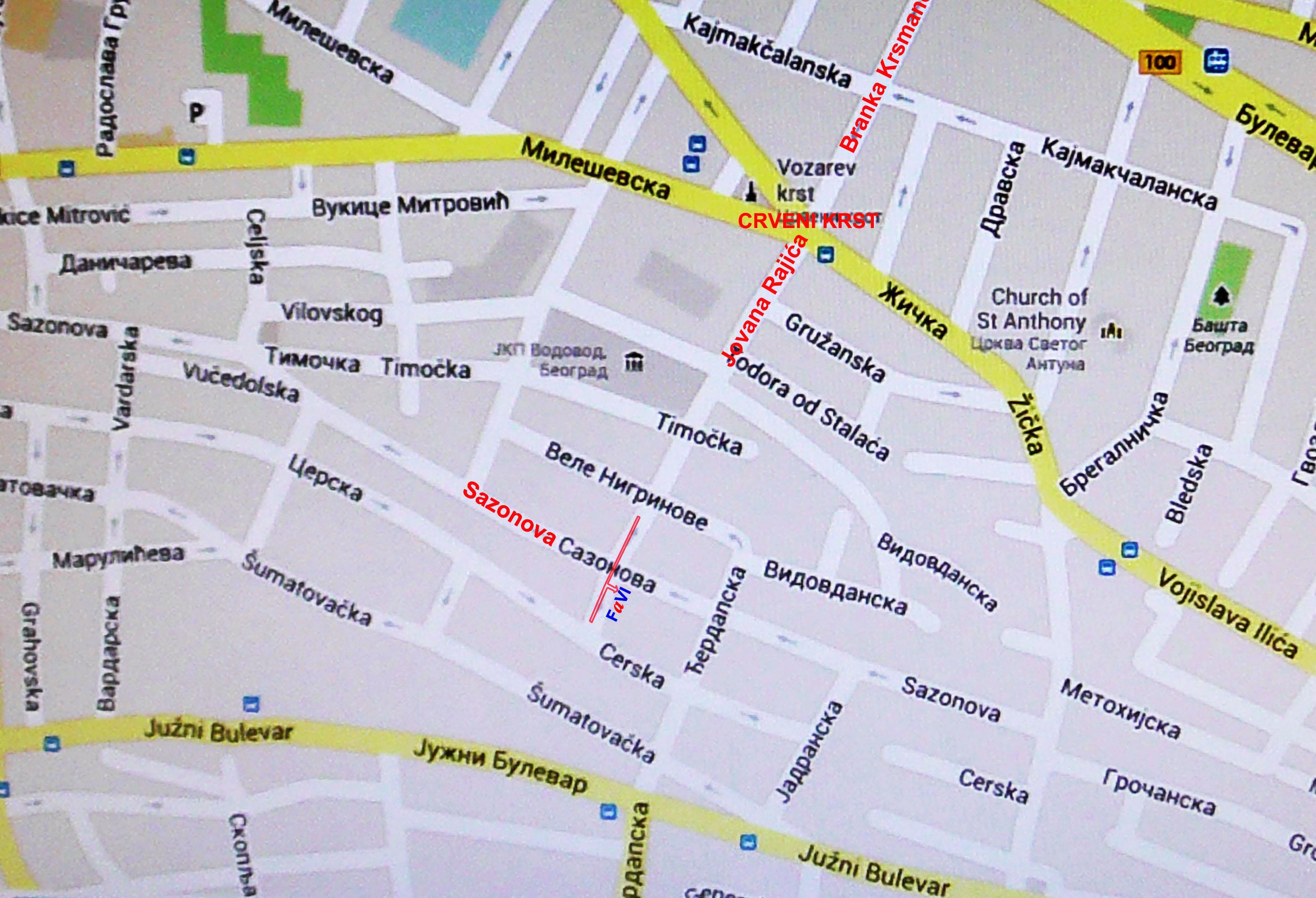 Dom Sindikata Beograd Mapa Superjoden